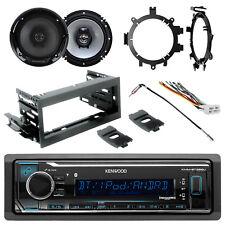 "Kenwood Bluetooth Radio + Kit, Harness,2x 6.5"" 2-Way Speakers, Brackets, Adapter"