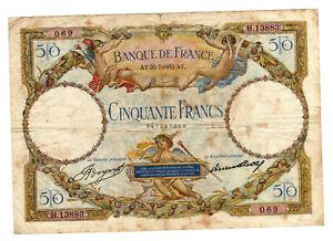 Billet 50 francs Luc Olivier Merson 1933 TTB+
