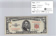 BILLET USA - 5 DOLLARS 1953 A - ROUGE - B.A