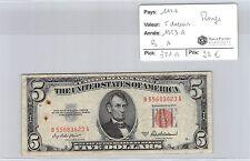 BILLET USA - 5 DOLLARS 1953 A - ROUGE - B.A