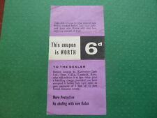 Vintage Kotex '6d Off' Coupon 1960 Rare
