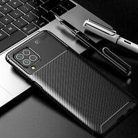 For Samsung Galaxy F62 / M62 Slim Shockproof Carbon Fiber Soft TPU Case Cover