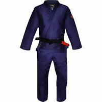 New Fuji Sports All Around Mens Brazilian Jiu Jitsu Gi Jiu-Jitsu BJJ - Navy Blue