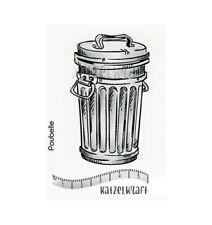 "Stempel ""Trash can"" Katzelkraft, Mülltonne, Stempelgummi unmontiert"