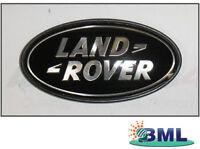 LAND ROVER RANGE ROVER L322 OVAL REAR BODY BADGE BLACK ON SILVER. PART- DAH50033