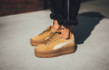 Rihanna Puma Fenty Suede Creepers Sneakers Trainers Yellow Brown Shoe Size 9 NWB