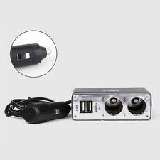 12V Auto 2 Fach KFZ Einbau Steckdose Zigarettenanzünder Adapter Dual USB Ladeger