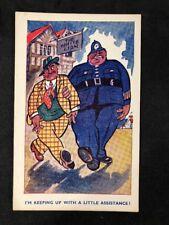 Vintage Postcard: Comic Seaside Humour #B133: RA Series: Policeman