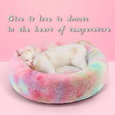 Durable Soft Textile Dog Litter Bed Round Plush Comfortable Winter Pet Cat Mat