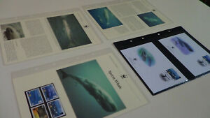2002  St Helena WWF stamps and first day covers with sperm whale information.
