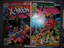 X-MEN 115 116 Marvel comics NOV DEC1978 Byrne art avFN Bronze age More save P&P!