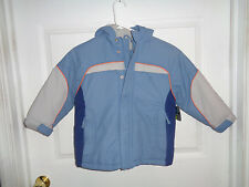 NWT Boy's - Blue - Athletech Winter Heavyweight Jacket with Hood - Size 4/5