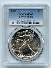 1989 $1 American Silver Eagle Dollar 1oz PCGS MS69