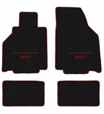 1995-1998 Porsche Carrera 993 Black mat set with Red Piping and Logo fronts