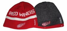 Detroit Red Wings Red Stripe Crackle Reversible Beanie Hat Toque NWT (TS 379)