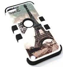 For iPod Touch 5th 6th Gen - Vintage Eiffel Tower Paris Hybrid Rubber Armor Case