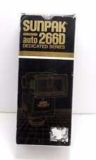 Sunpak Auto 266D Thyristor Hot Shoe Flash Unit - For Canon Cameras New In Box
