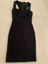 Miss Selfridge Black Bodycon Dress With An Unusual Back Sz UK8