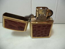 ZIPPO ACCENDINO LIGHTER IN PELLE EFFETTO COCCODRILLO  VERY RARE