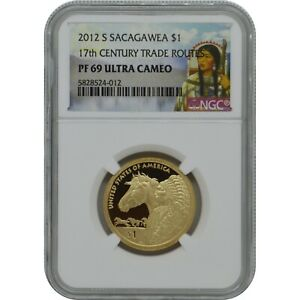 2012-S Sacagawea Proof one Dollar NGC PF69 Ultra Cameo 17th Century Trade Routes
