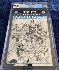 DC UNIVERSE: REBIRTH #1 CGC 9.8 MIDNIGHT SKETCH COVER VARIANT NEW 52 DC COMICS