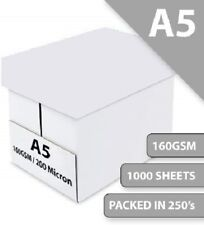 A5 White Printer and Craft Card 160GSM Box Thin Pack Size : 1000 Sheets