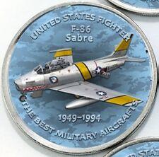 Zimbabwe 1 shilling 2017 F-86 Sabre US Fighter Aircraft 1949-1994 Airplane