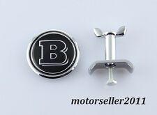 New 45mm Brabus Chrome Front Hood Bonnet Emblem Badge