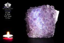 "6"" Brazilian Amethyst Geode Cluster Crystal Lamp #AL-517-13"