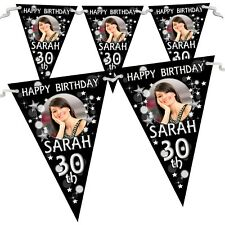 Personalised 18th 21st 30th 40th Birthday Party Flag Banner Bunting N70 Any age