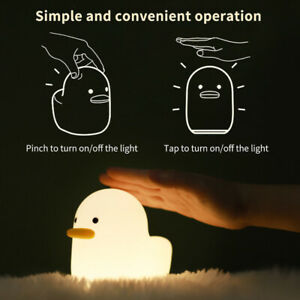 Creative Duck LED Silicone Night Light Children Bedside Table Lamp Bedroom Gift
