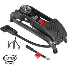 HEYNER PedalPower PRO Black Edition foot pump 7BAR 100PSI for car bike tyre