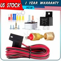 175 to 185 Degree Electric Cooling Fan Thermostat Relay Switch Wiring /& Hardware