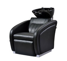 SALON SHAMPOO BACKWASH STATION CHAIR BED CERAMIC SINK BOWL ADJUSTABLE LEG REST