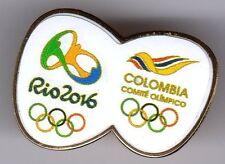 RIO 2016. PARALYMPIC GAMES. NOC PIN. COLOMBIA. LOGOS.