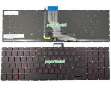 New HP Omen 15-AX000 15-AX100 15-AX200 15-AX033DX Keyboard Red Backlit US Black
