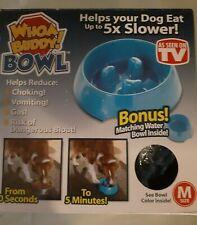 Whoa Buddy Medium  dog Bowl Food and Water Dish Set new open box