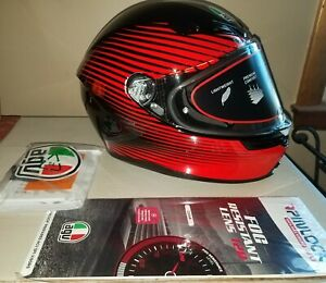 AGV K-6 Rush black and red Helmet XL X Large new with tags