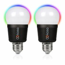 Veho Kasa Bluetooth Smartphone Controlled LED Smart Light Bulb - E27 Twin Pack