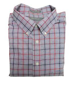 NWOT Daniel Cremieux  Signature Gray Red Check Men's LS Button Down Shirt 2XLT