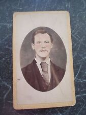 Antique Cabinet Card CDV Colour Tinted Man Iswald Steinbach St Pauly Hamburg