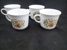 CORELLE by Corning * Set of 4 * Indian Summer * Coffee Mugs Tea Cups * EUC