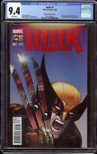Hulk # 7 CGC 9.4 White (Marvel, 2014) Marquez Variant cover swipe of Hulk 340