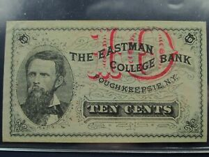 10 TEN CENTS Eastman College Bank NY US Fractional Currency - Crisp AU