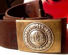 Imperial German, Pre-WW1 Prussian Enlisted Man's  Brass Belt Buckle with Belt