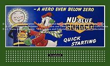 Billboard  for Lionel Holder Sunoco Gas Donald Duck A Hero Even Below Zero