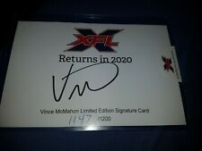 WWE/WWF Vince Mcmahon Autographed Official XFL Signature Card Signed Of 1200