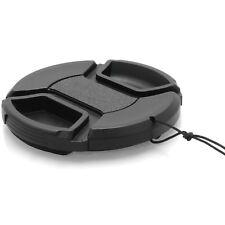 55mm Front Lens Centre Pinch Snap-On Hood Cap Cover For DSLR SLR Cameras