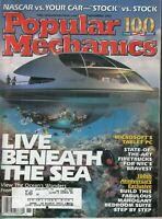 Popular Mechanics Magazine November 2002, NASCAR, Live Beneath The Sea, 154 pgs.
