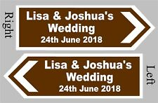 PERSONALISED Wedding Direction Sign Choice of Size and Colour - Event Road Sign